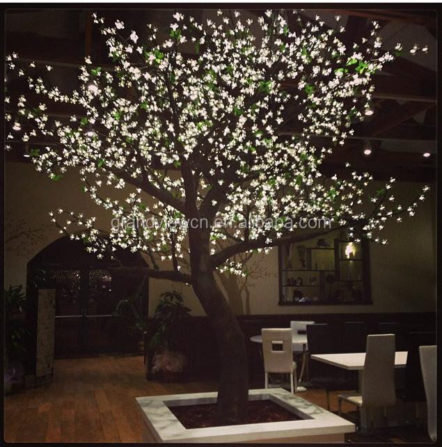 White Artificial Nature LED Cherry Blossom Tree Light For