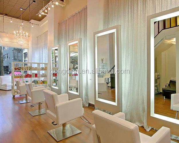 ... salon mirror station barber station mirrors Hairdressing salon wall