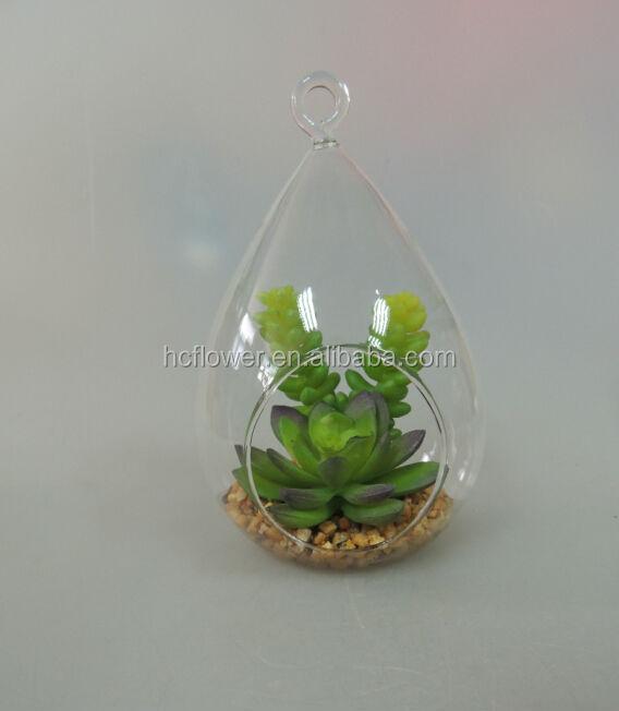 met glazen pot groen voor woonkamer decoratie-kunstmatige struiken ...