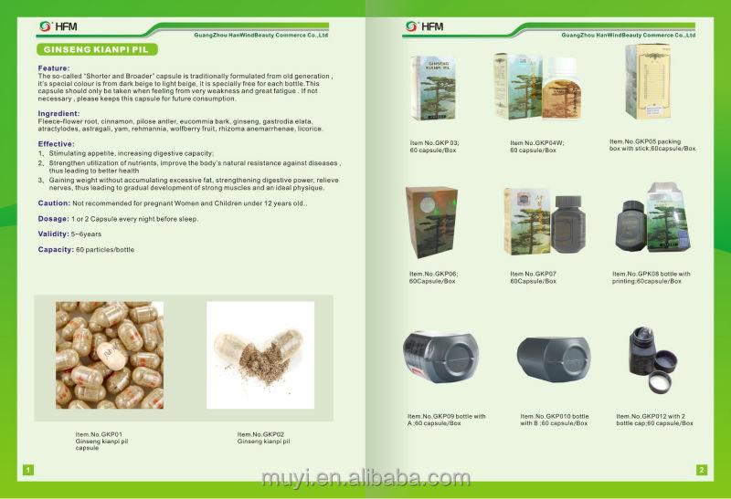 Good effect Anti-Fatigue weight gain herbal korean ginseng