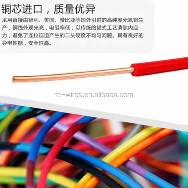 2014 hot sell PVC insulated single core electrical cable