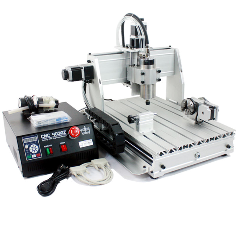 4 Axis CNC 6040 China Mini DIY Desktop Hobby CNC Router ...