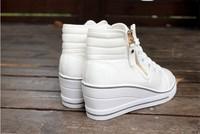 весной и летом Холст обувь повышенной клинья Шнуровка повседневные танкетки, Скейтбординг обувь лифт обувь спортивная