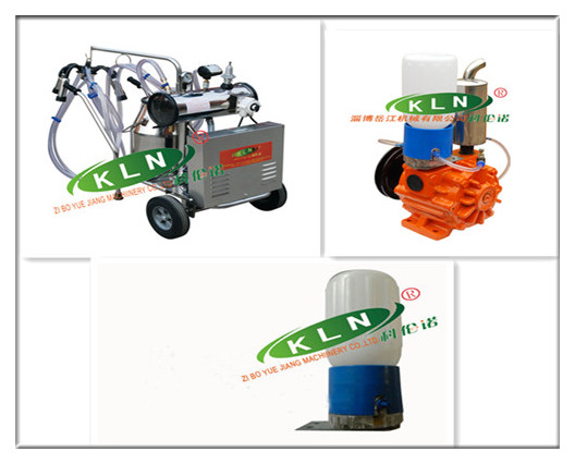 Vacuum pump type single milking machine