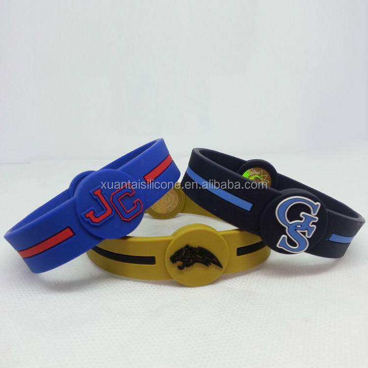 custom silicone bracelet silicone watch with emboss logo