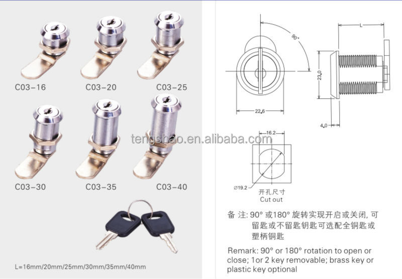 C03 серии цинковый сплав D19 x L16 замок сообщения