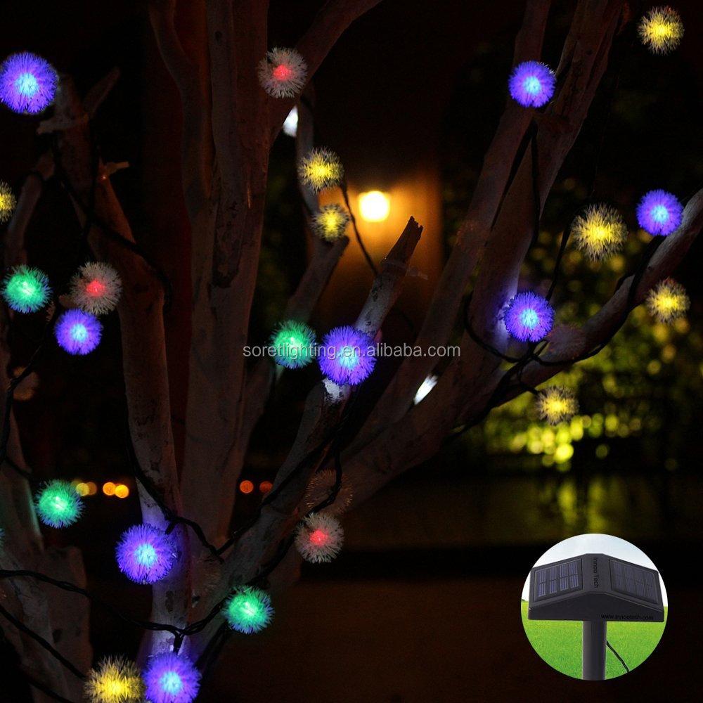 Colorido led solar luzes classe comercial luzes da corda for Arbres lumineux exterieur