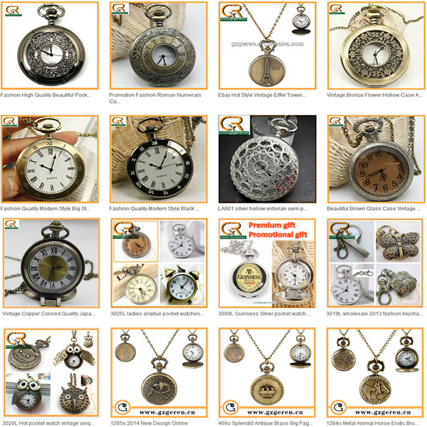 New arrvial plastic open face wholesale pocket watch made in China