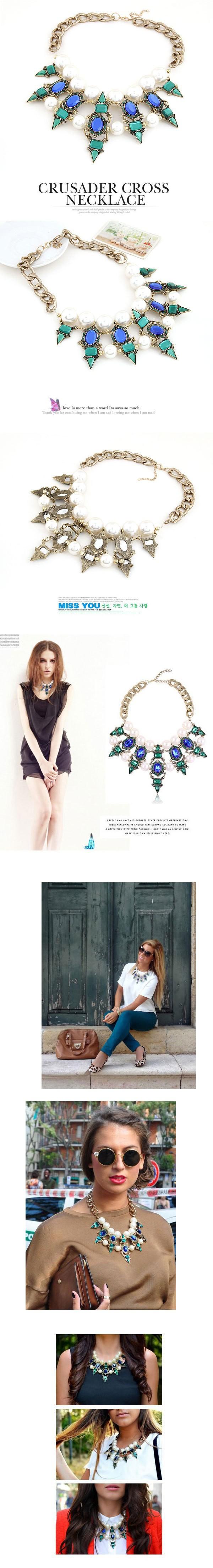 бренд моды ретро-панк Кристалл ожерелья заклепки женщин воротник колье ожерелья & Кулоны бижутерия