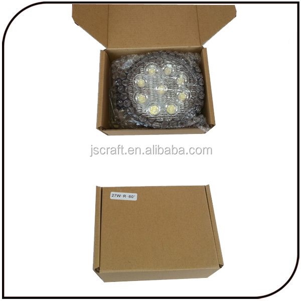 warranty 2 year high power IP67 12v 27w led work lamp light for off road