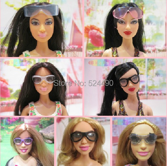 Combine Completely different Types Vogue Multicolor Doll Sunglass Equipment For Barbie Kurhn Ken Doll Reward New 2016 1 computer Toys for Ladies