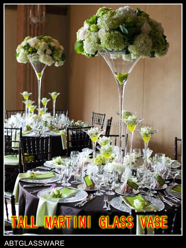 Tall Martini Glass Vases For Wedding Decoration Buy Tall Martini