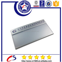 custom stainless steel self adhesive metal nameplates with direct factory price