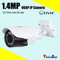CCTV COMS 1.4MP OSD Menu Audio IP Camera 960P Ovif 2.2 IR Cut D/N Vision Video Camera