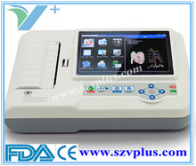 ECG 600G Digital 3/6 Channel ECG- Color display with touch screen , optional software transfer data to PC