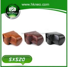 Neopine Retro Detachable Protective PU Leather camera case SX520 for Cannon SX520