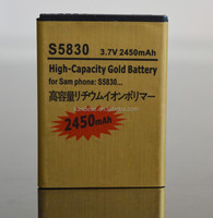 Brand Mobile Phone External Gold Battery Large Capacity Battery For Samsung Galaxy Ace Dear B7510 S5660 S5670 S5830 S6358