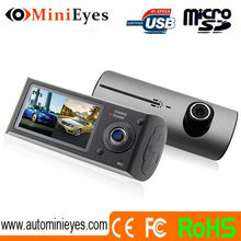 dashcam 2.7inch dual camera X3000 drive recorder with g-sensor dash car cam