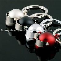 Mini 3D colourfull Helmet Keyring ,Auto parts Helmet keychain ,Piston Key ring .Spark Plug LED keyring