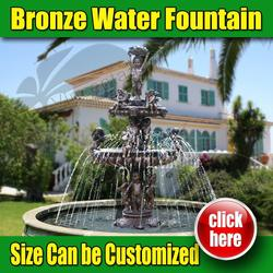 Outdoor Garden Water Fountain in Marble or Bronze (Customized Service)