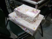Canvas Storage Box(full printing flower)
