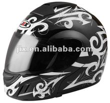 new ABS Flip up motorcycle helmet JX-A111 with clear/smoke visor