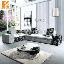 Foshan Newland furniture factory combination sofa modern corner fabric sofa furniture (NL-M131)