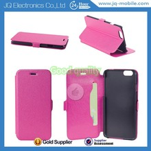 China supplier mobile pu case with card slot phone leather cover for Apple Iphone 6 6 plus