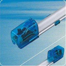 aluminum alloy electronic lamp fixture with transparent blue holder P140 P130 P120