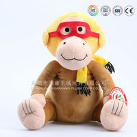 talking and walking stuffy yellow monkey plush toy