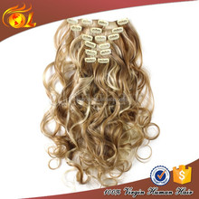 Natural wave clip in hair extensions for black women,clip in hair extension
