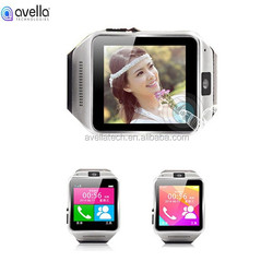"1.5"" inch dual sim bluetooth smart watch mobile phone GV08 with best quality"