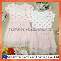 Stylish Princess Model Baby Polka Dot Children Girl Dress