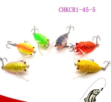 CHKCR1-45-5 hot sale fishing lure Insect bait Cicadas Fishing Lures 45mm 5g hard minnow lure fishing gear