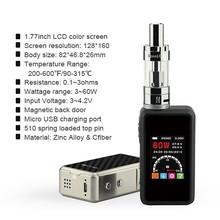 e-cig vapor 60w temp control Mini box mod SMY60TC e cigarette subtank mini bell cap