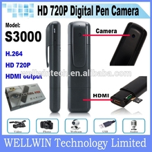 720P HD Digital Pen Camera Camcorder With HDMI Out S3000 Digital Pen