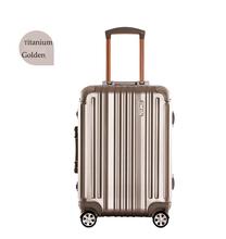"""Best Quality Titanium Golden 21"""" Aluminum Luggage Cheap Price Aluminum Lugage Case"""
