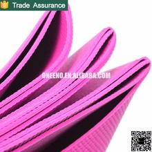 Eco Pvc Yoga Mat Fluorescent Green Fold Up with Custom Label
