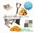 mão de aço inoxidável uso fresco cortador de batata chips