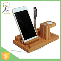 Best selling Bamboo wholesale wooden watch display stand for apple