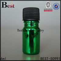 6ml green Personal Care Essential bottle with plastic cap, hot sale Spa Supplies bottle Products