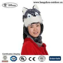 2015 Wolf Animal Faux Fur Animal Hat