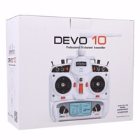 F09924 Walkera DEVO 10 10CH 2KM 2.4Ghz Telemetry Function Transmiter + RX1002 Receiver Color White for Walkera Helis Helicopter