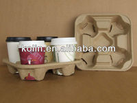 recycled paper pulp molded cup carrier/cup tray/cup holder