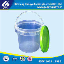 2L transparent plastic bucket with lids