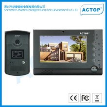 Motion detdctor memory and 4pcs CCTV Mutiple apartment digital video door phone with high quality customer service