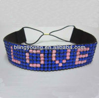 Customized rhinestone headband with your logo