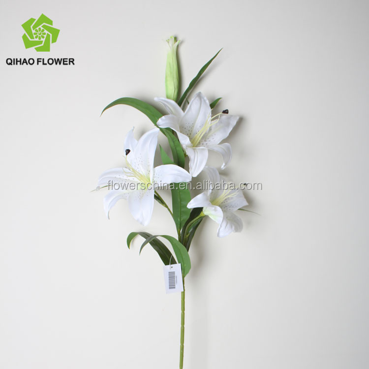 Artificial Flower White Lily For Garden Decoration Long Stem - Buy ...
