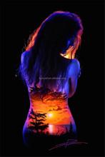 cheap Glow body painting/ UV body paint glow in dark