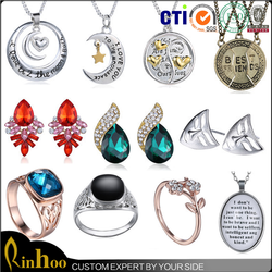 Free sample wholesale latest design fashion jewellery/ best selling alloy costume jewellery